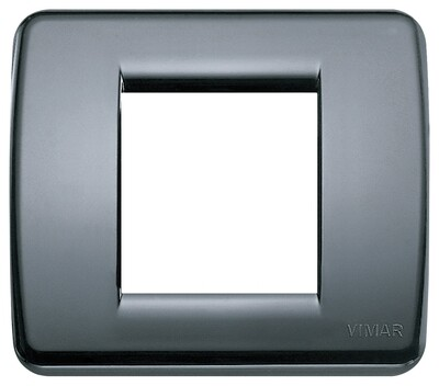 Накладка для 1-2 модулей RONDO пластик графитовый серый