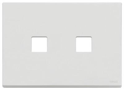 Накладка, 3 мод на 2 кн., белая матовая
