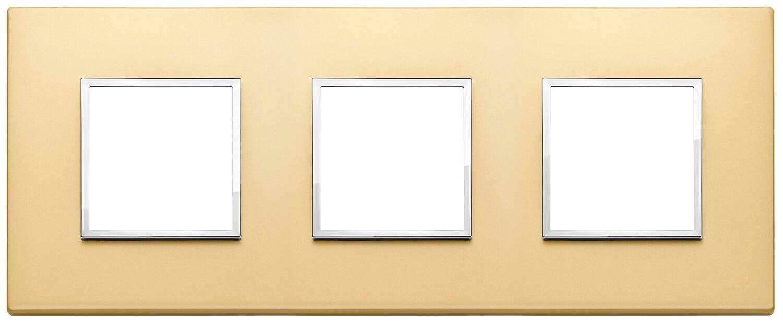Накладка Evo на 6 модулей (2+2+2) расстояние между центрами 71мм, сатинированное золото