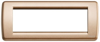 Накладка для 6 модулей RONDO металл металлик бронзовый