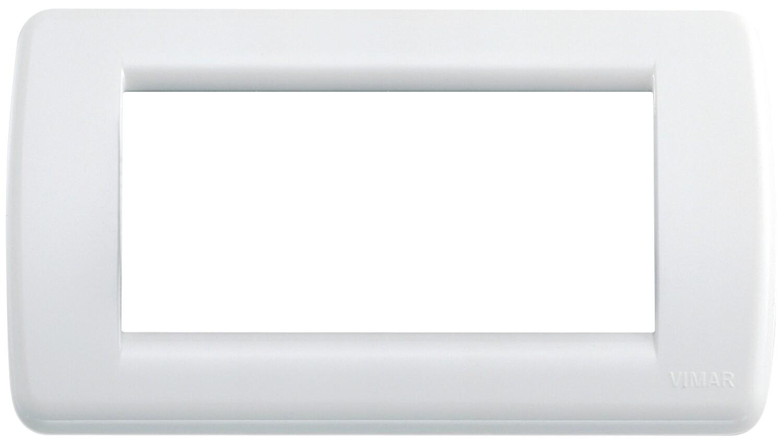Накладка для 4 модулей RONDO пластик ярко-белый