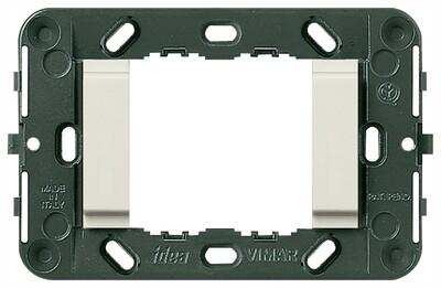 Суппорт для 2 модулей гладкий, без винтов (Треб.07935-2шт), белый