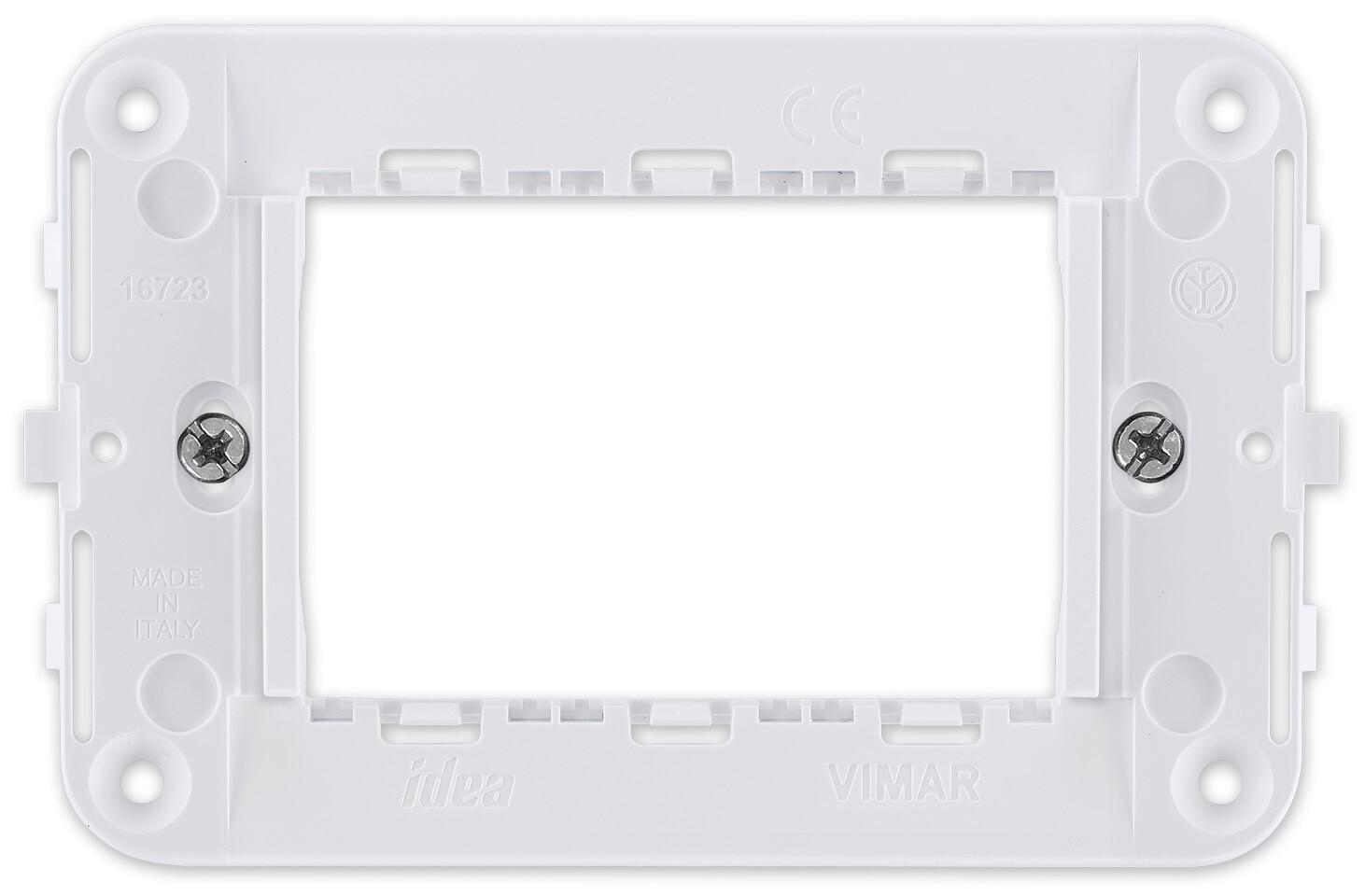 Суппорт для 3 модулей для термостатов, белый