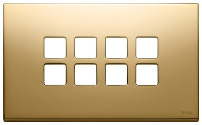 Накладка плоская, 4 мод на 8 кн., золото