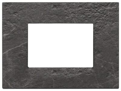 Накладка на 3 модуля, nero Marquina