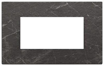 Накладка на 4 модуля, nero Marquina