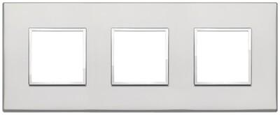 Накладка Evo на 6 модулей (2+2+2) расстояние между центрами 71мм, серебро