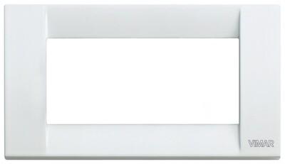 Накладка для 4 модулей металл белая