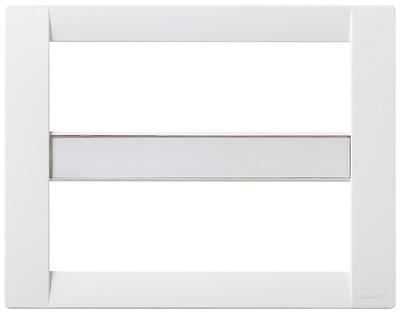 Накладка для 12 (6+6) модулей пластик белый