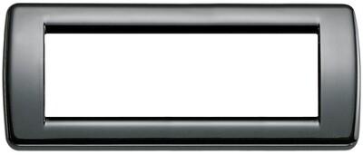 Накладка для 6 модулей RONDO металл черная