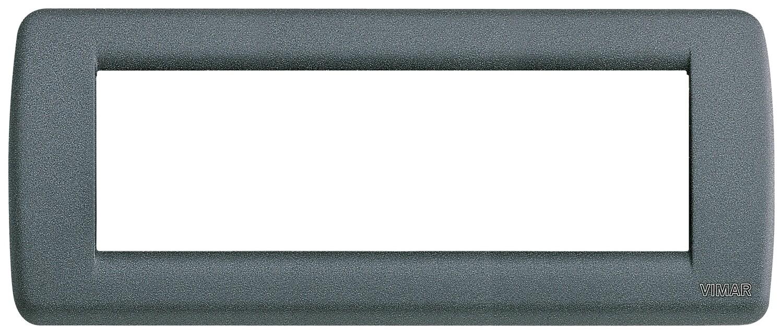 Накладка для 6 модулей RONDO металл серый шифер