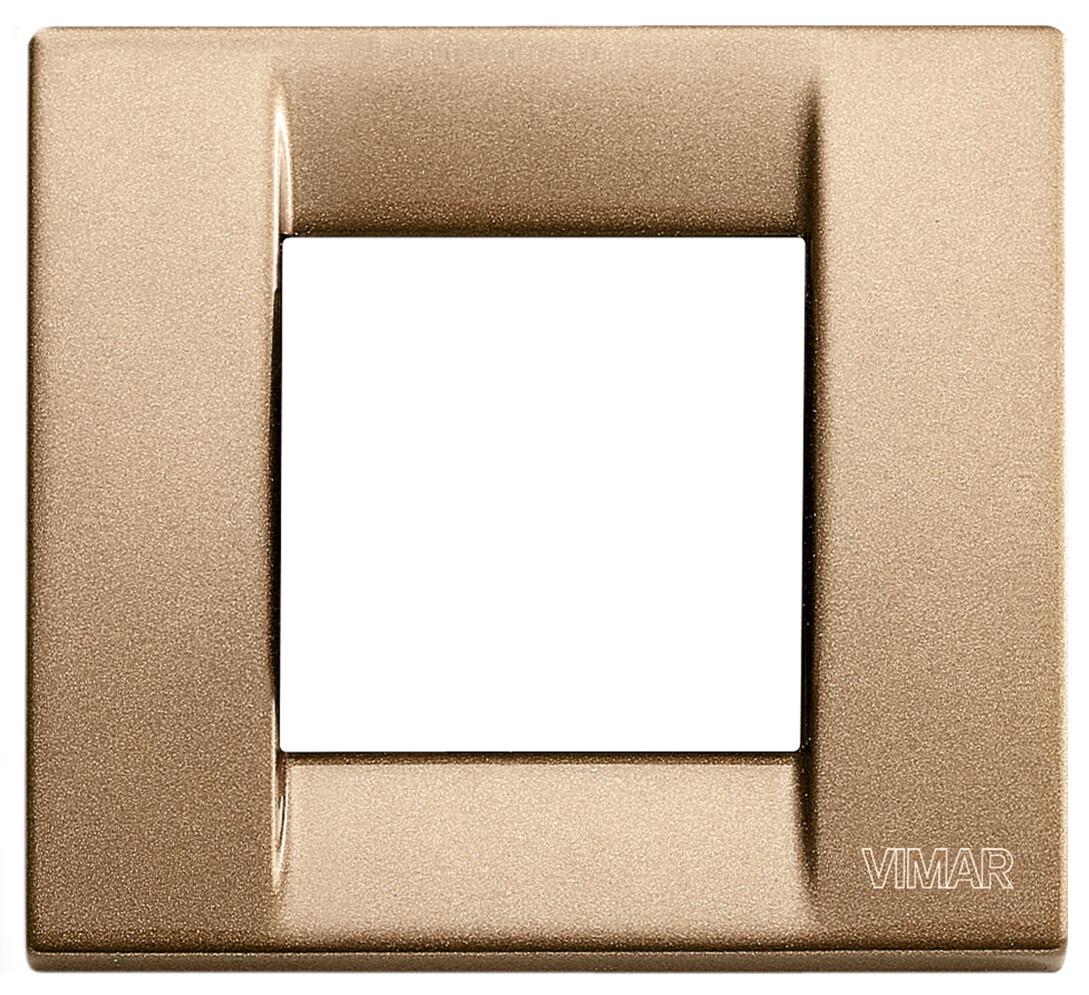 Накладка для 1-2 модулей металл металлик бронзовый
