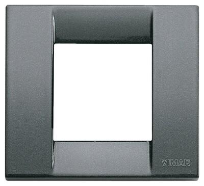 Накладка для 1-2 модулей металл металлик антрацитовый