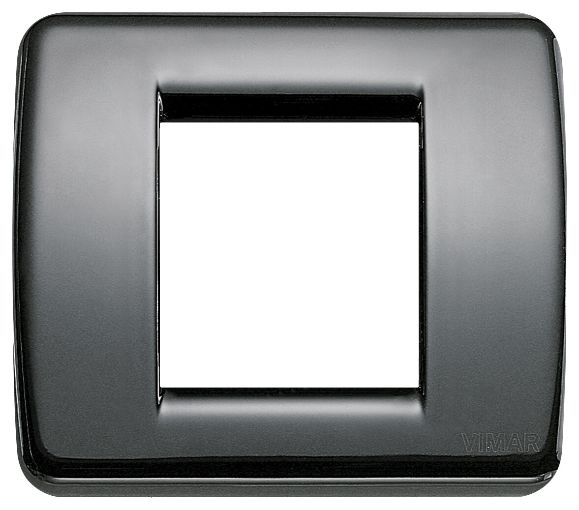 Накладка для 1-2 модулей RONDO металл черная