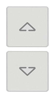 """Две плоские клавиши -символы """"стрелки"""", белые"""