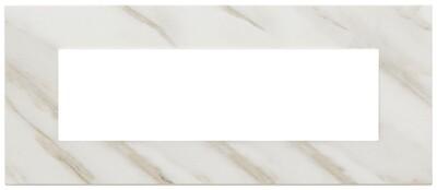 Накладка на 7 модулей, белая Калькутта