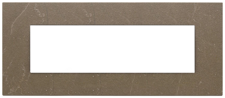 Накладка на 7 модулей, коричневый кофе
