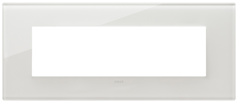 Накладка на 7 модулей, белый латте