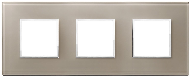 Накладка Evo на 6 модулей (2+2+2) расстояние между центрами 71мм, коричневый опал