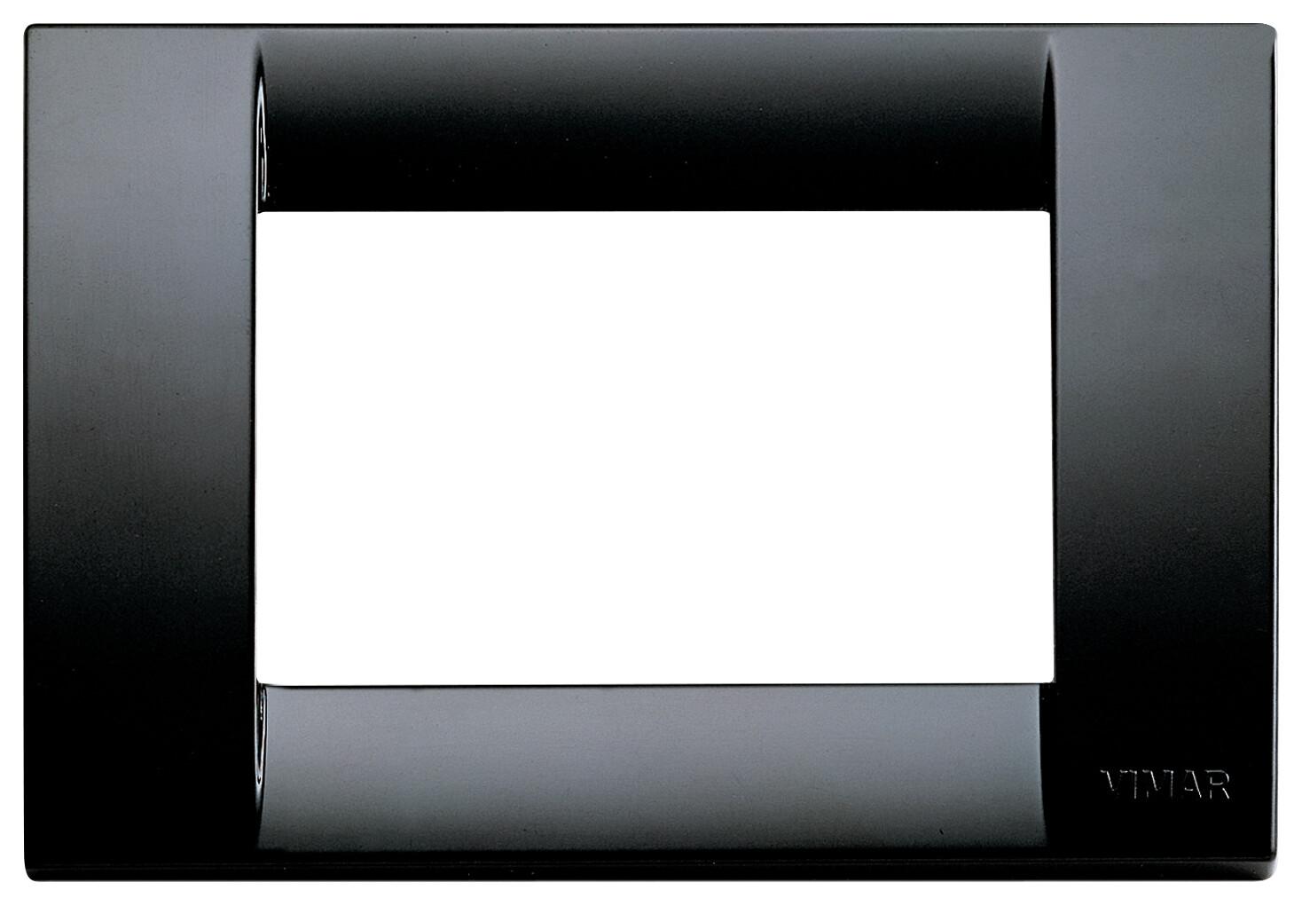 Накладка для 3 модулей пластик черный