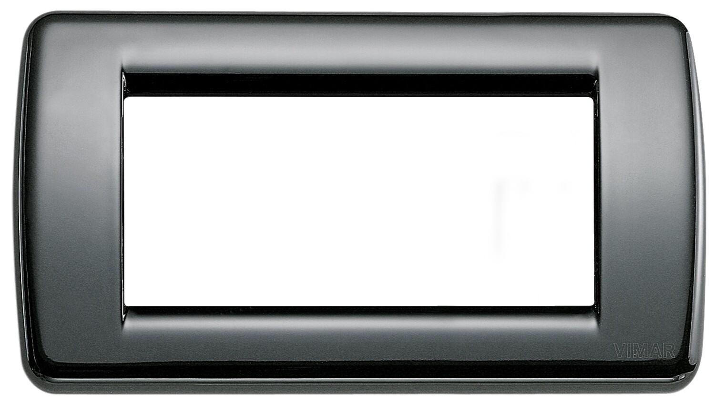Накладка для 4 модулей RONDO металл черная