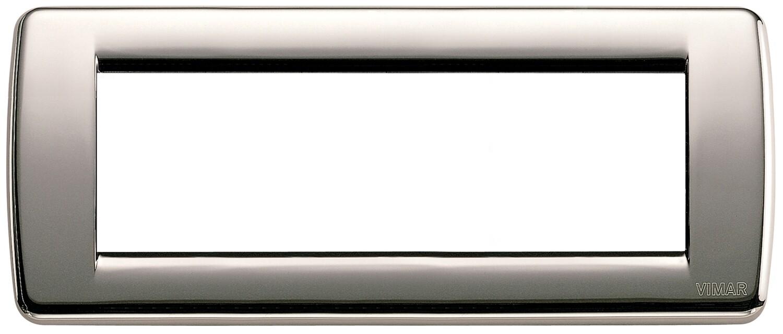 Накладка для 6 модулей RONDO металл черный хром