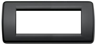 Накладка для 5 модулей RONDO пластик черный