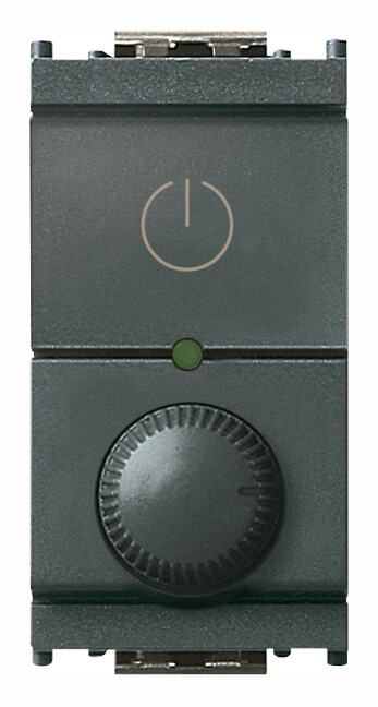 Регулятор поворотный ведущий 230V универсальный, серый