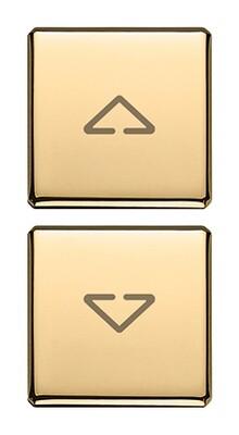 "Две плоские клавиши, символы ""стрелки"", золото"