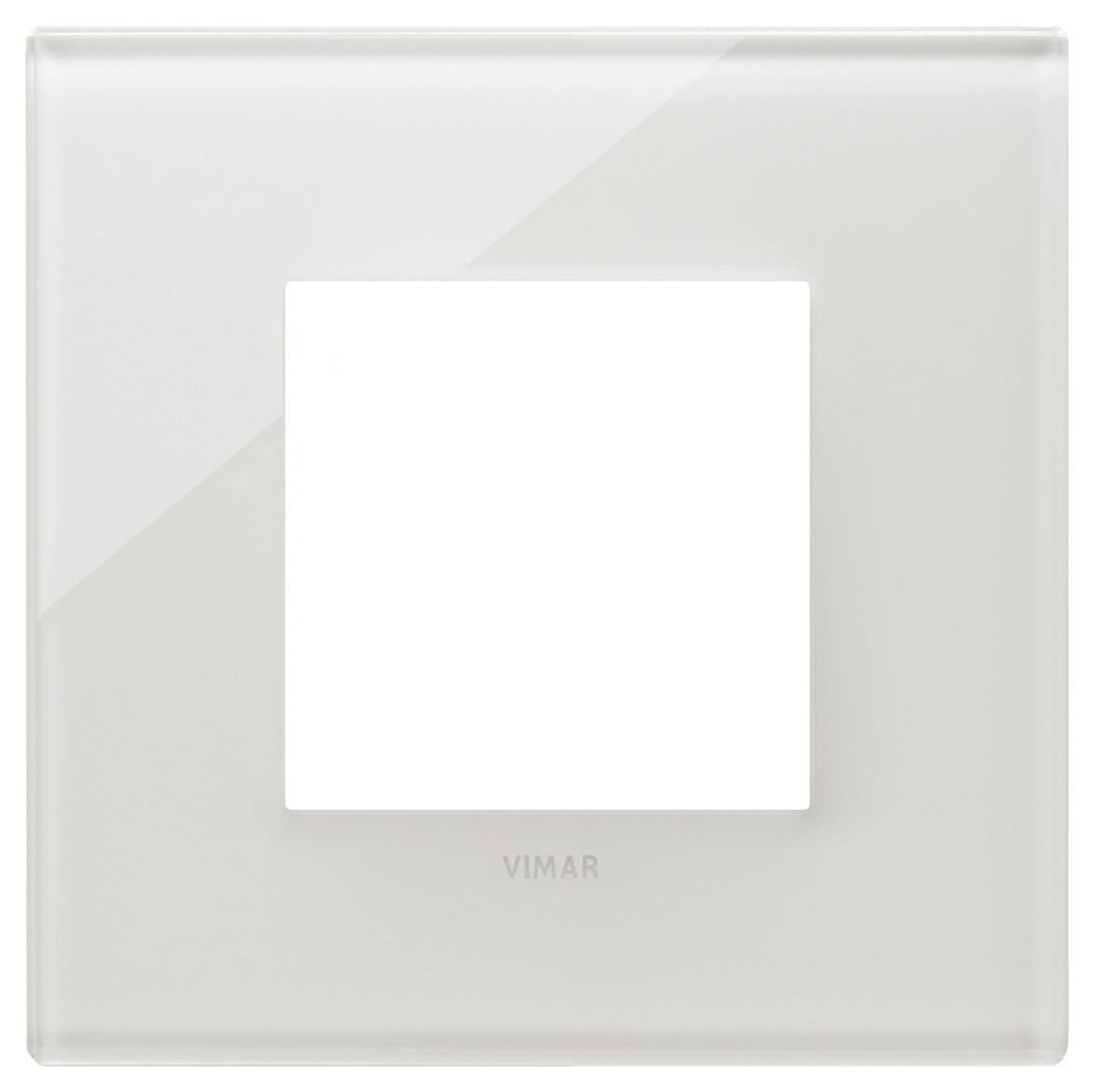 Накладка на 2 модуля, белый латте