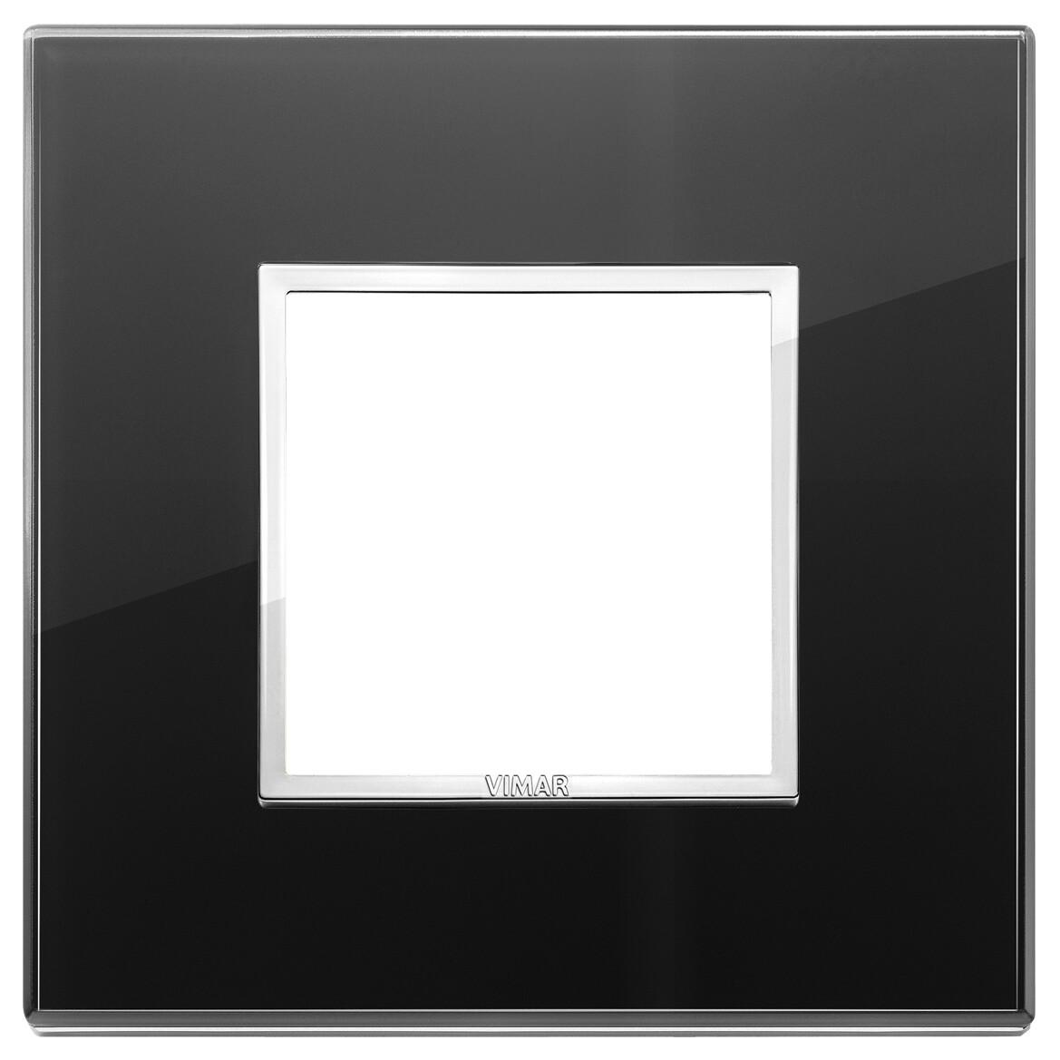 Накладка Evo на 2 модуля, черный бриллиант