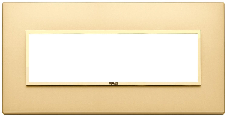 Накладка EVO для 7 модулей, золото сатинированное