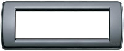 Накладка для 6 модулей RONDO пластик графитовый серый
