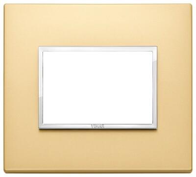 Накладка Evo на 3 модуля, сатинированное золото