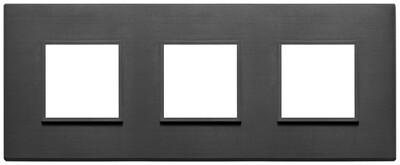 Накладка Evo на 6 модулей (2+2+2) расстояние между центрами 71мм, черная полностью