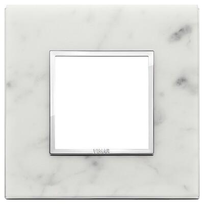Накладка Evo на 2 модуля, белый каррара