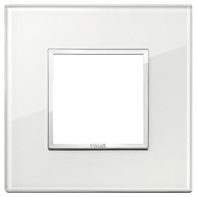 Накладка Evo на 2 модуля, белый бриллиант