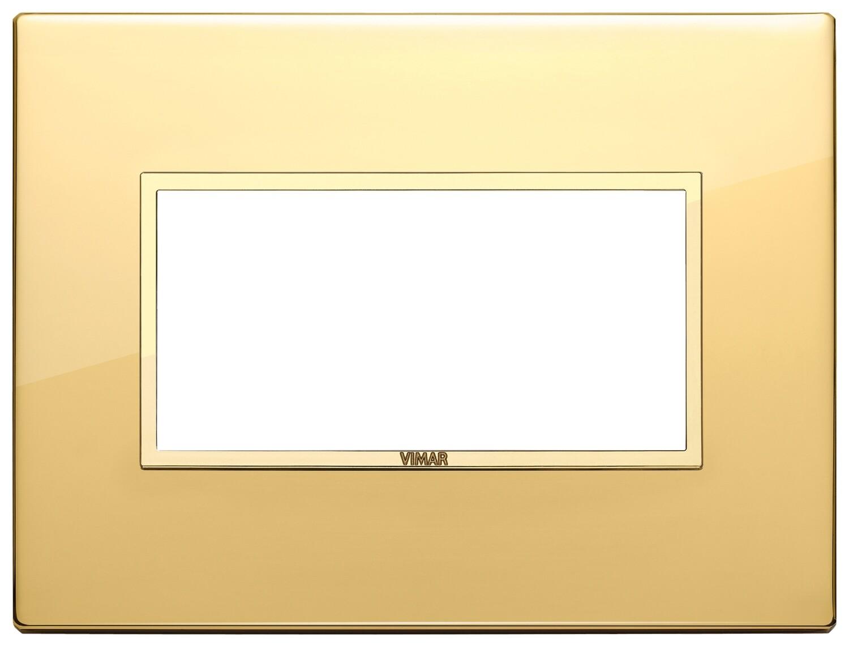 Накладка EVO для 4 модулей, золото полированное