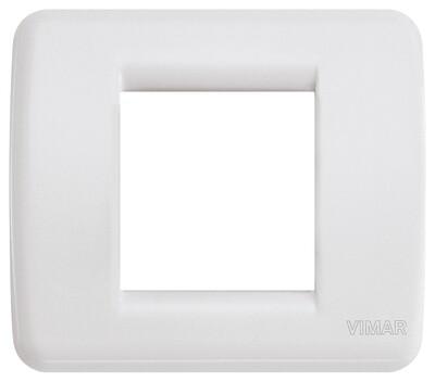 Накладка для 1-2 модулей RONDO пластик белый IDEA