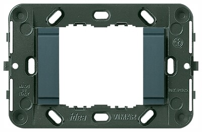 Суппорт для 2 модулей гладкий, без винтов (Треб.07935-2шт), серый
