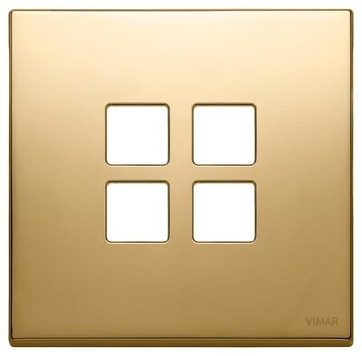 Накладка плоская, 2 мод на 4 кн., золото