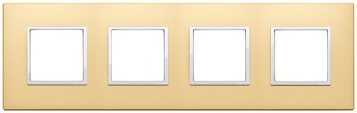 Накладка Evo на 8 модулей (2+2+2+2) расстояние между центрами 71мм, сатинированное золото