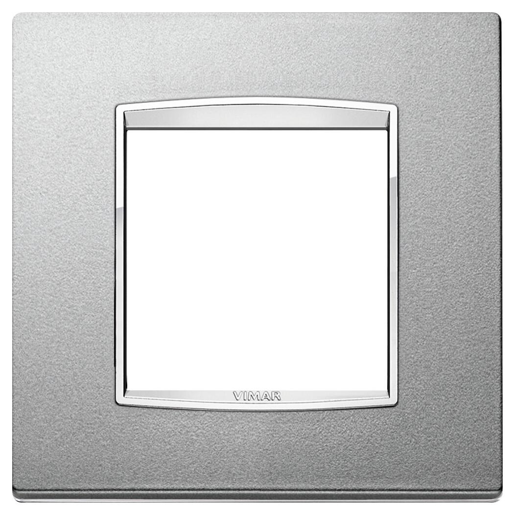 Накладка классика для 2 модуля серебро матовое