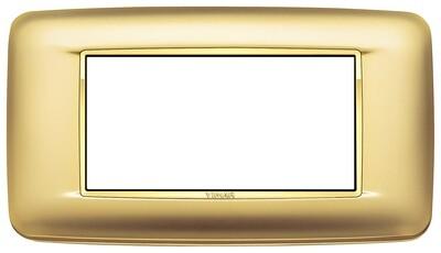 Накладка с закруглениями для 4 модулей золото сатинированое