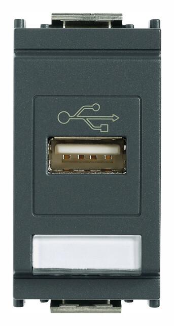 Розетка USB, серая
