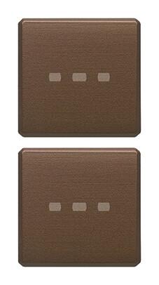 Две плоские клавиши без символов, бронза