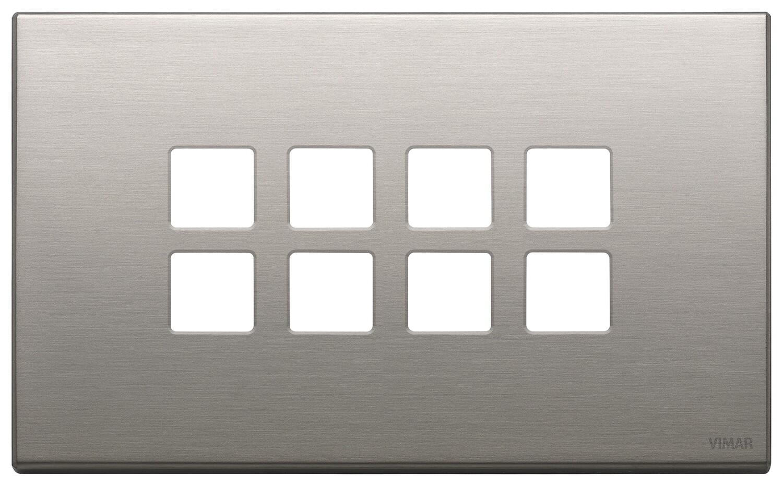 Накладка плоская, 4 мод на 8 кн., никель матовый