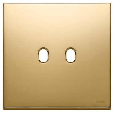 Накладка, 2 мод на 2 выкл., золото