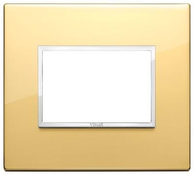 Накладка Evo на 3 модуля, глянцевое золото