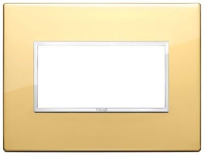 Накладка Evo на 4 модуля, глянцевое золото